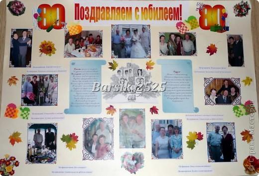 Плакат бабушки на день рождения своими руками
